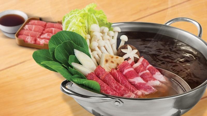 ชาบูน้ำดำสไตล์ญี่ปุ่น