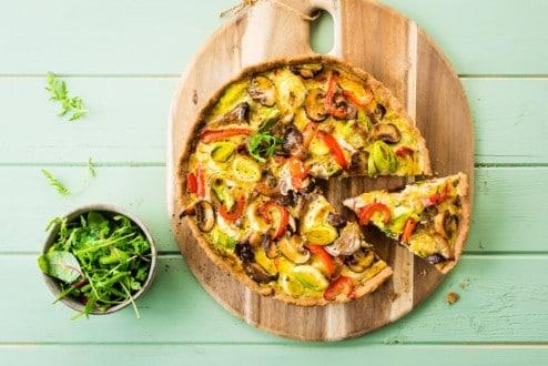 Knorr - Buchweizen Quiche mit Pilzen