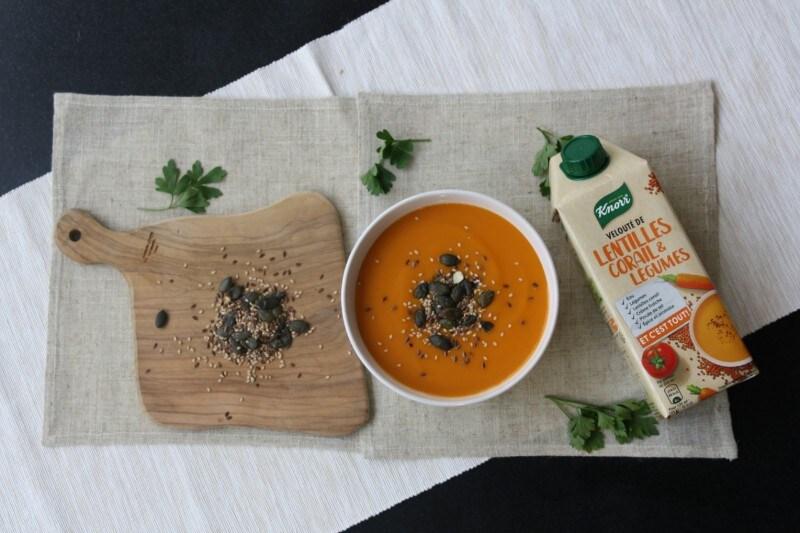 Mélange de graines et soupe Knorr