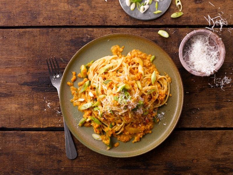 Spaghetti med linser