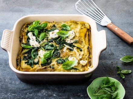 Lasagnes vertes, épinards et ricotta