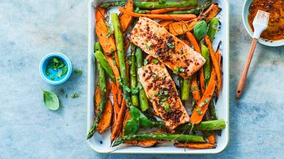 Salmon with Spring Veggies