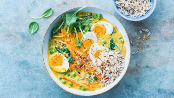 Egg Curry Bowl