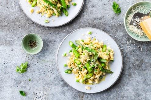 Knorr - Hirsotto mit grüne Spargeln