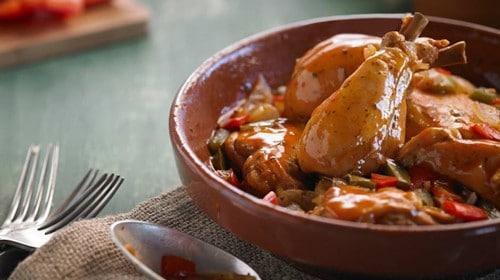 Pollo al horno con limón y oregano