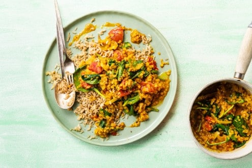 Knorr - Linsencurry mit Spinat