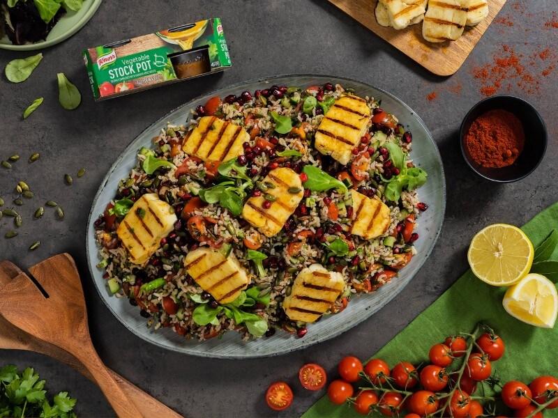 Summer Honey Glaze Halloumi Salad