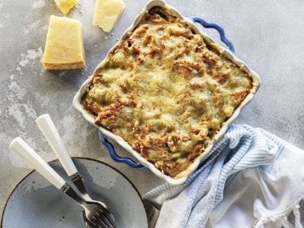 Tortellinis de Ricotta no forno com queijo e bacon