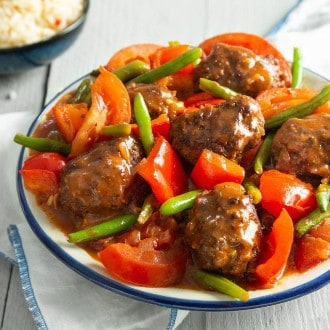 Griekse Kofta met lekker groenten