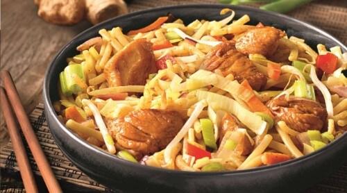 Lekker veel groenten met de Chinese Kantonese Kip van Knorr