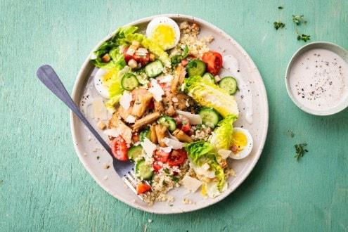 Knorr - Caesar Salat mit veganem Geschnetzelten