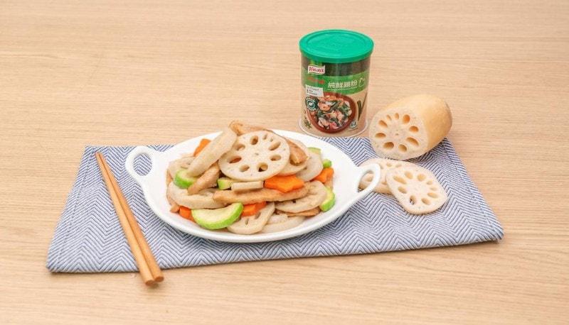 蓮藕翠玉瓜炒豬頸肉—resized