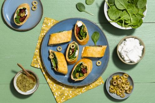 Wortelwrap met ricotta en spinazie