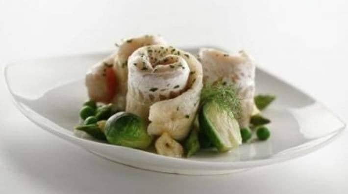 Rollitos de pescados con hierbas