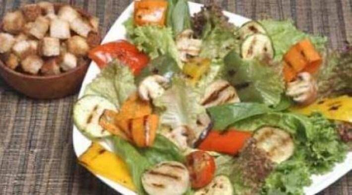 Verduras a la parrilla con provenzal