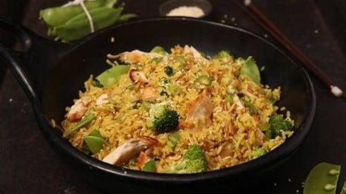 Garlic Sesame Rice with Chicken