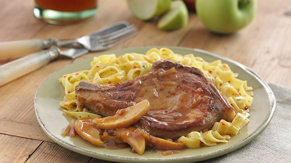 Pork Chops with Apple-Onion Sauce