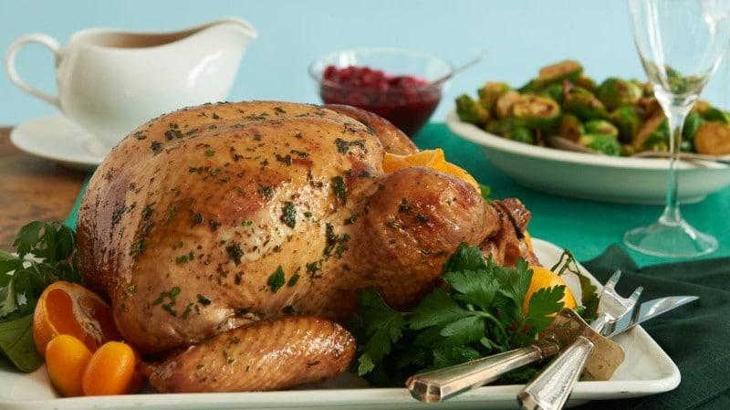 Citrus Herb-Roasted Turkey & Port Gravy