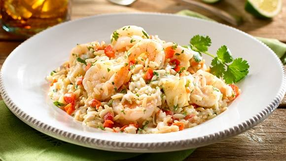 Yucca Risotto with Shrimp
