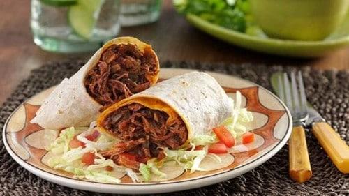Burritos au Boeuf Déchiqueté à la Mijoteuse
