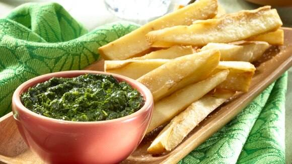 Yucca Fries with Chimichurri Sauce