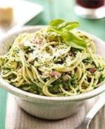 Spaghetti spinazie-carbonara