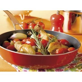 Cocotte de poulet aux échalottes et tomates cerises