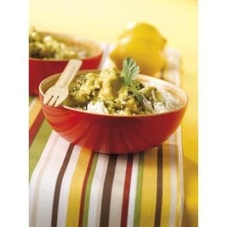 Curry van kalkoen met citroen