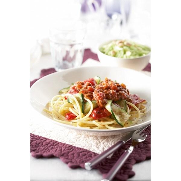 Spaghetti Bolognaise aux légumes grillés