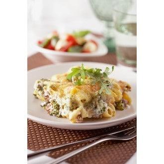 Gratin de pâtes aux brocolis