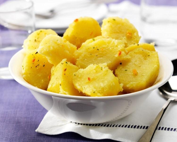 Des  pommes de terre bien cuites