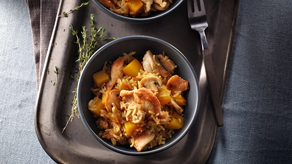 Chicken & Butternut Squash with Rice