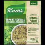 Sopa de Vegetales con Caracolitos Verde