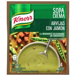 Sopa Crema de Arvejas con Jamón