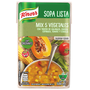 Sopa Lista Mix 5 Vegetales