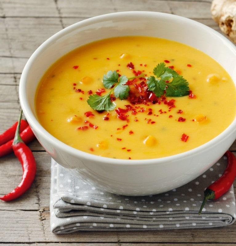 Kürbissuppe mit Chili