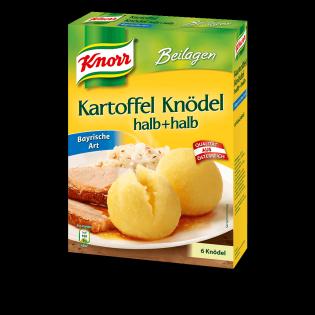 KNORR Kartoffel Knödel halb + halb Bayrische Art