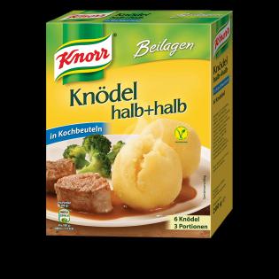 KNORR Knödel halb+halb in Kochbeuteln