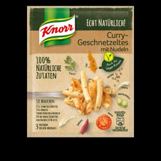 Knorr Echt Natürlich! Curry-Geschnetzeltes mit Nudeln