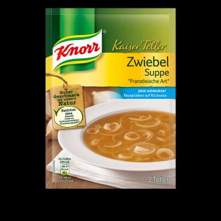 KNORR Kaiser Teller Zwiebel Suppe
