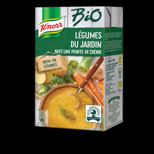 Knorr Bio Légumes de Jardin avec une pointe de crème
