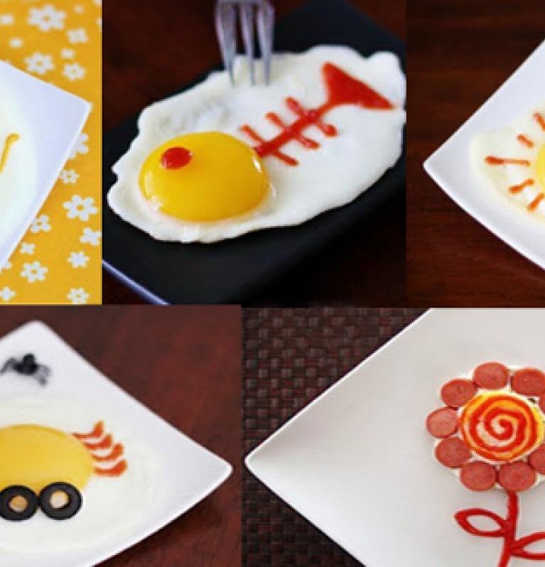 Huevos divertidos al desayuno