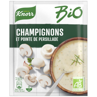 Soupe Champignons pointe de persillade | Knorr