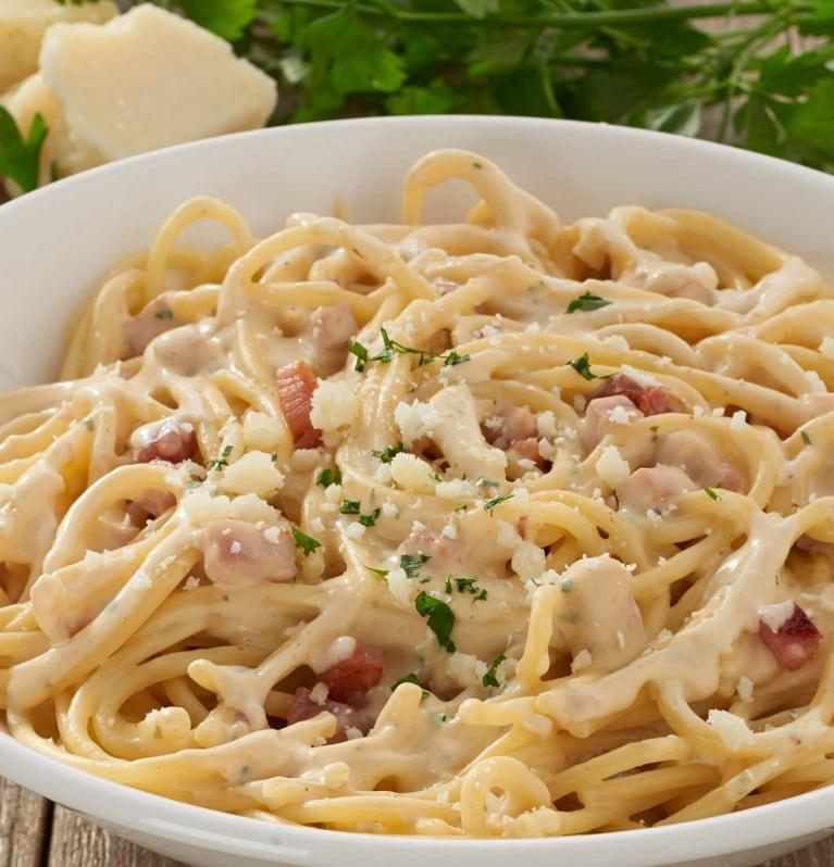 Spaghetti, Speck, Parmesan