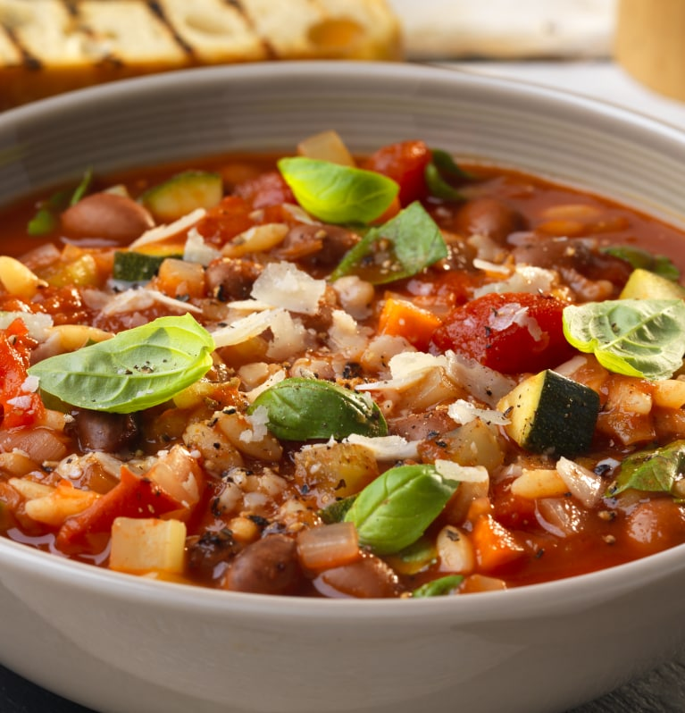 Minestrone Soup from Leftovers