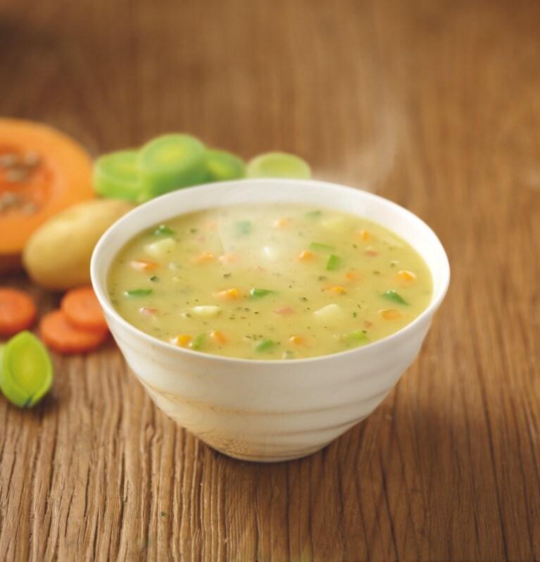 Sopa de crema de verduras argentinas
