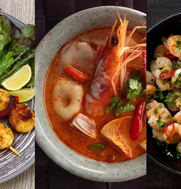 Three delicious ways to cook shrimp