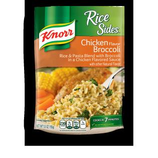 Arroz con sabor a pollo y brócoli