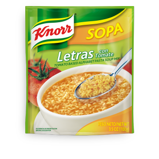 Sopa de letras con tomate