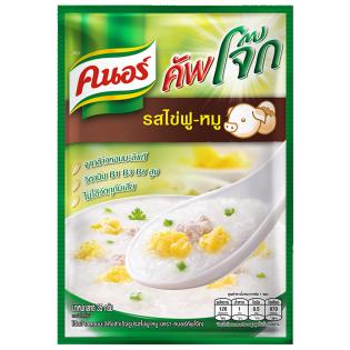 โจ๊กซองรสไข่ฟู-หมู